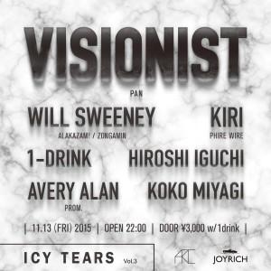 [FLYER_OMO] 11.13 Visionist DJ at ARC Tokyo #2